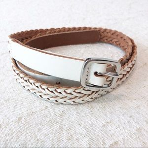 NWT Ann Taylor White Braided Belt